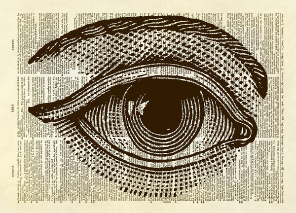 Human Eye Dictionary Art Print