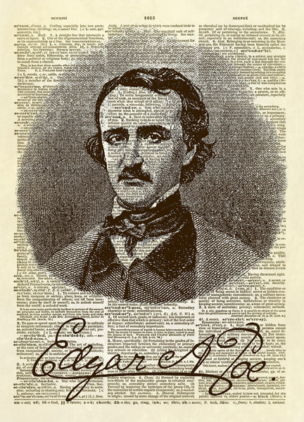 Edgar Allen Poe Dictionary Art Print
