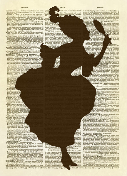 Fancy Silhouette Lady Dictionary Art Print