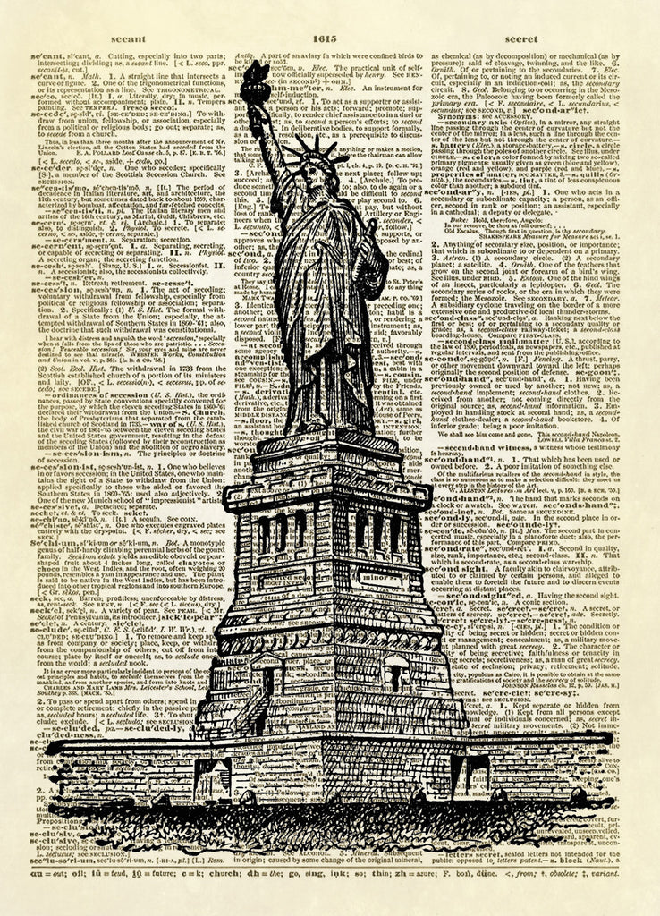 Statue of Liberty Dictionary Art Print