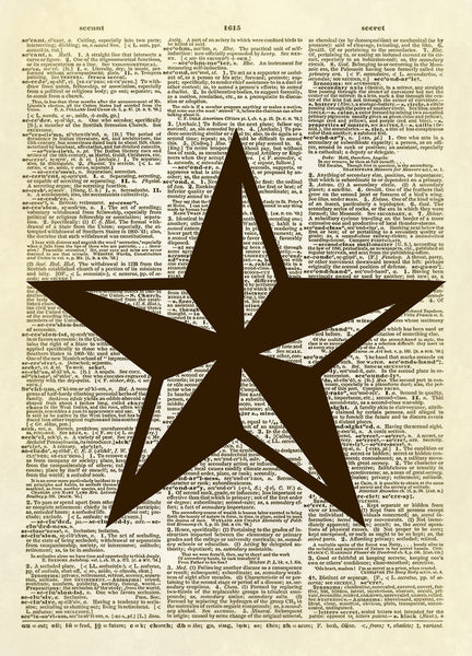 Texas Star Symbol Dictionary Art Print