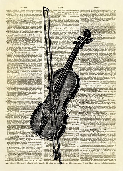 Violin Musical Instrument Dictionary Art Print