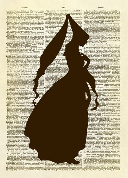 Princess Silhouette Dictionary Art Print