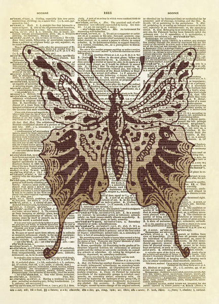 Whimsical Butterfly Dictionary Art Print