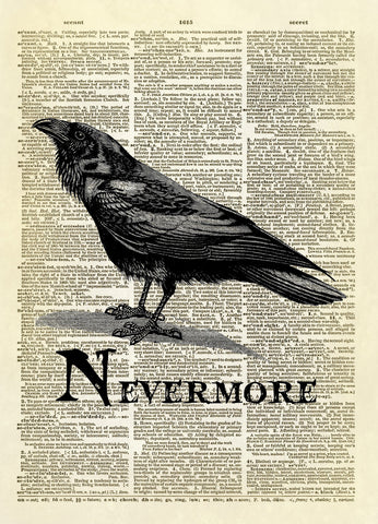 The Raven Nevermore Dictionary Art Print