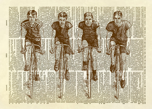 Bicyle Racing Team Dictionary Art Print