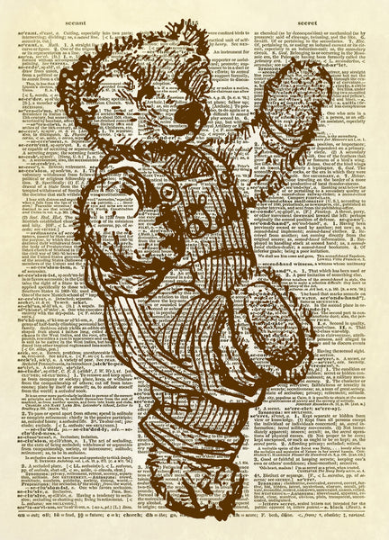 Teddy Bear Stuffed Animal Dictionary Art Print