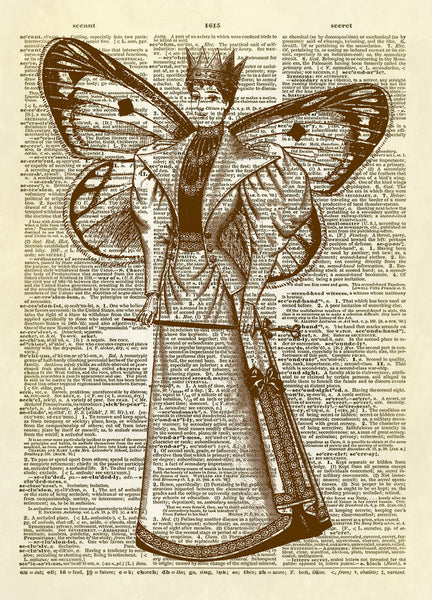 Fairy Queen Dictionary Art Print