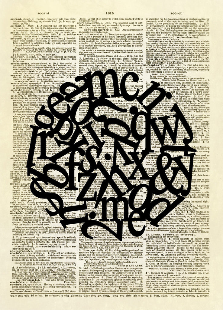 Circle of Type Dictionary Art Print