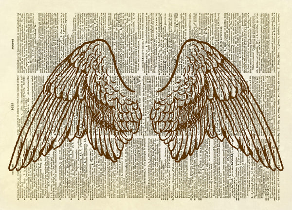 Angel Wings Dictionary Art Print