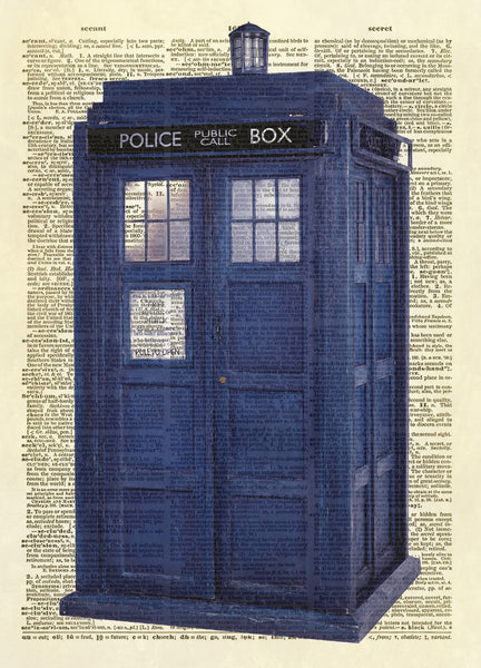 Dr. Who Tardis Dictionary Art Print
