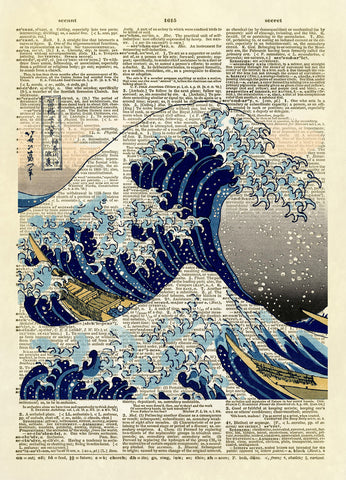Great Wave Off Kanagawa Color Dictionary Art Print