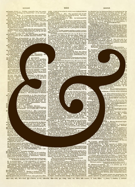 Ampersand Symbol Dictionary Art Print