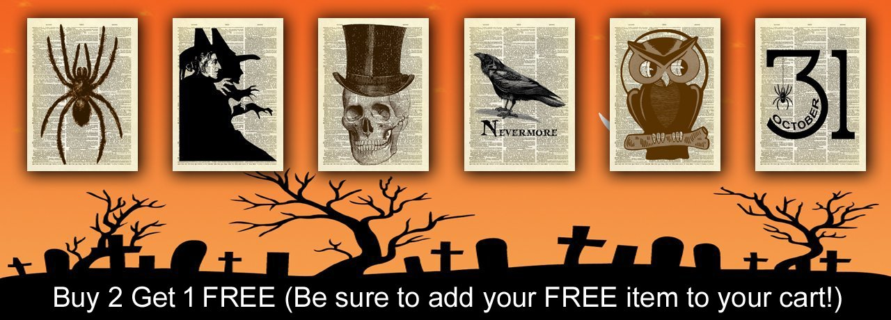 Halloween - Buy 2 Get 1 FREE (Be sure to add your FREE item to your cart!)