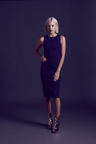 Nightswimming Navy Dress
