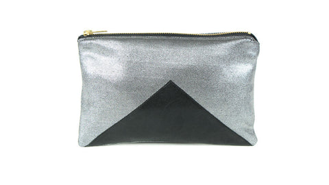 Mazzy Silver Oversized Coin Purse