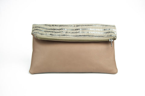 Dolly with Ruffle and Roll Cover Clutch