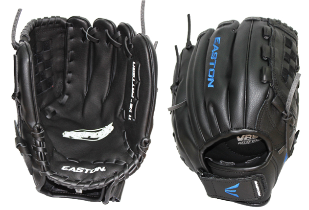Easton Reflex Leather/Synthetic Fielding Glove (Black/Blue)