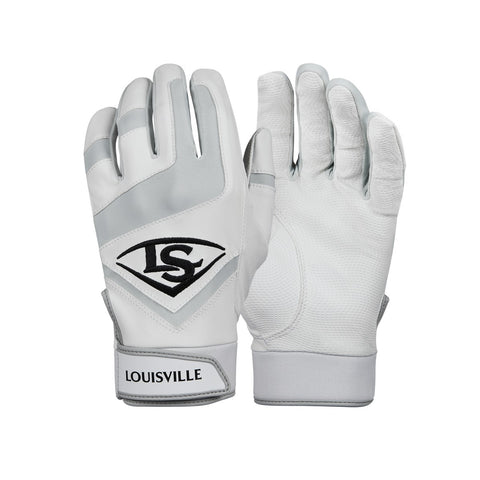 Louisville Slugger Genuine Youth Batting Gloves - White