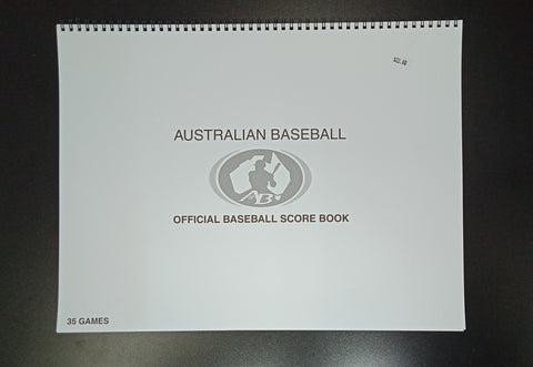 Australian Baseball Official Baseball Score Book (12 Line)