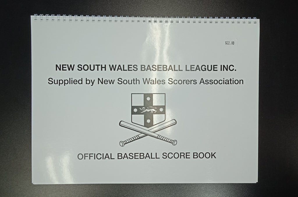 NSW Baseball Official Baseball Score Book (9 LINE)