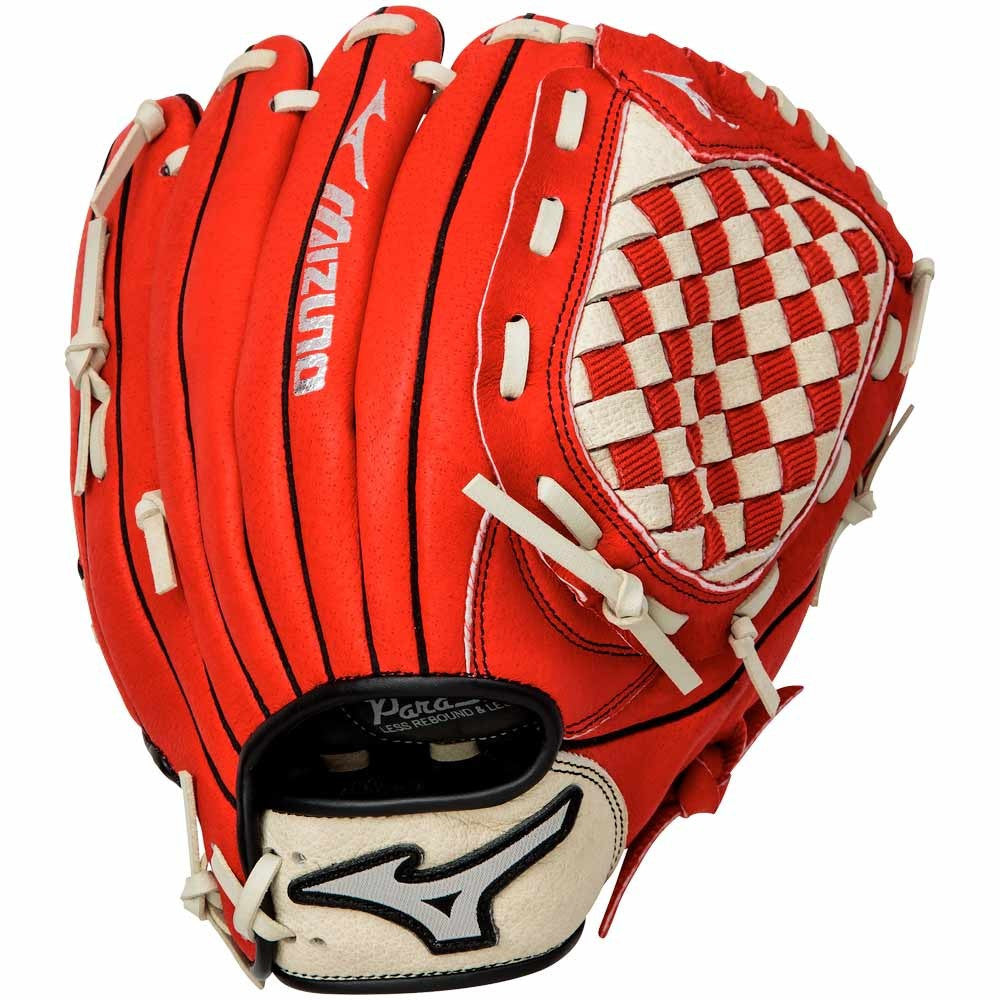 "Mizuno Prospect 11.5"" Youth Fielding Glove Red"
