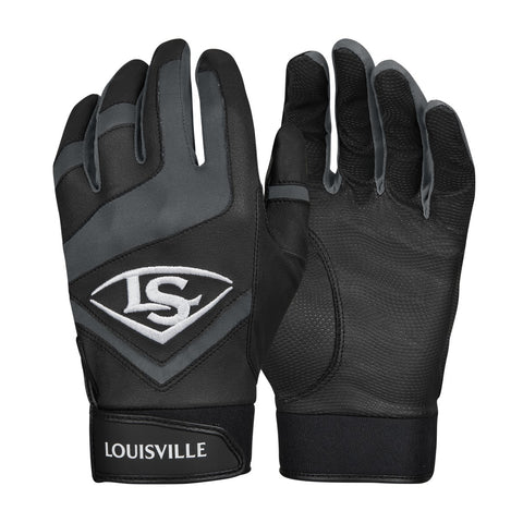 Louisville Slugger Genuine Adult Batting Gloves - Black