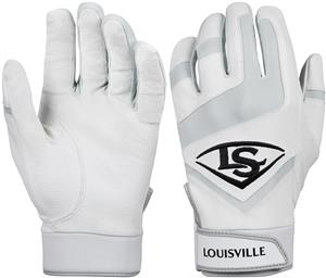 Louisville Slugger Genuine Adult Batting Gloves - White