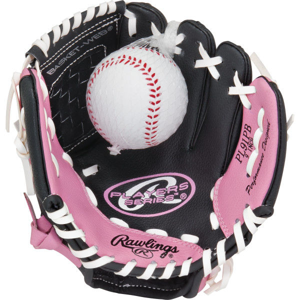 "Rawlings Player Series 9"" Glove and Ball Combo PL91PB"