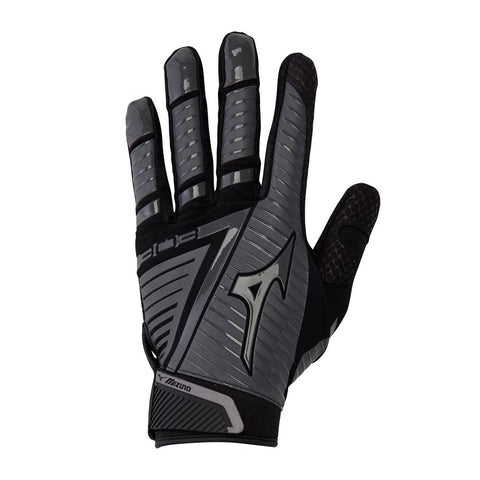 Mizuno B-303 Adult Batting Gloves Black Charcoal