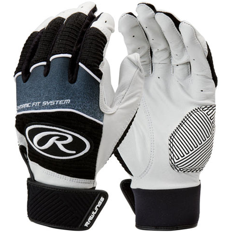 Rawlings Youth Workhorse Batting Gloves - Black