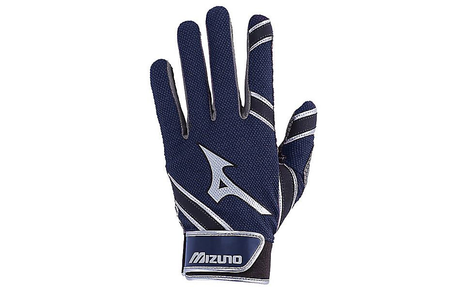 Mizuno MVP Youth Batting Gloves Navy
