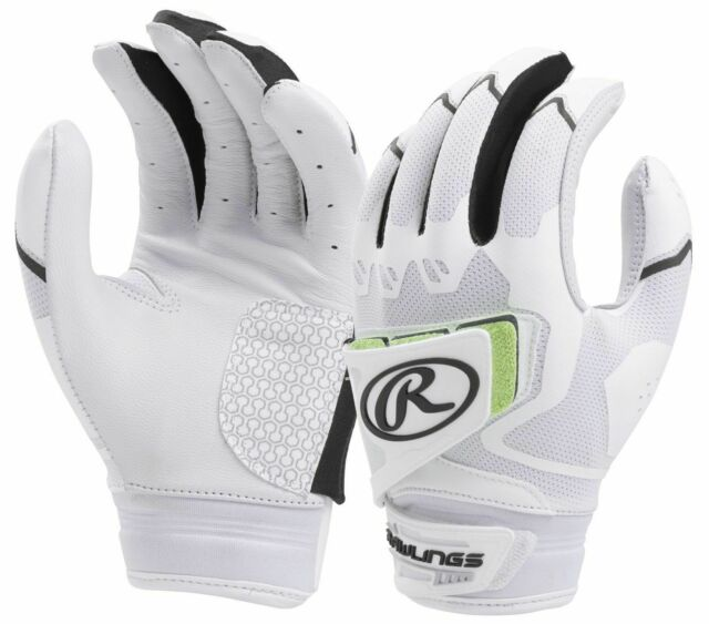 Rawlings Womens Workhorse Pro Batting Gloves - White/Black