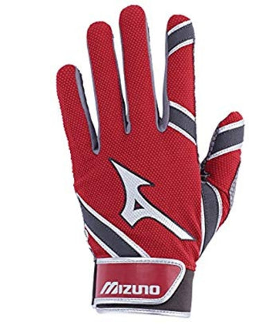 Mizuno MVP Adult Batting Gloves Red