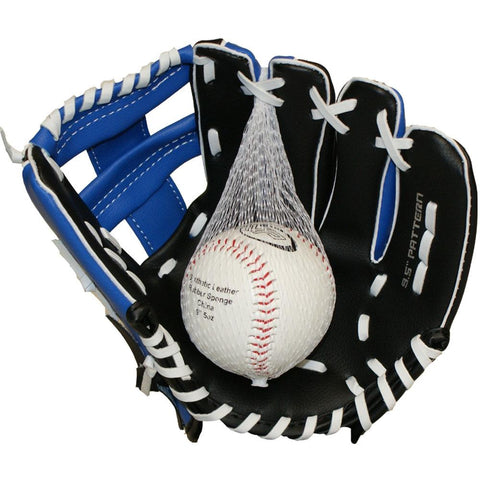 "MVP 9.5"" Glove & Ball Combo Blue/Black Left Hand Throw"