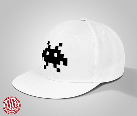 Alien Logo Snap Back Wool Hat (White) - Original Gamer Hat - Dungeons and Dragons T-shirt