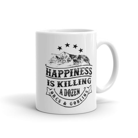Dugeons and Dragons Happiness - Mug - Original Gamer  - Dungeons and Dragons T-shirt