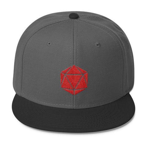D20 Gamer hat - Wool Blend Snapback