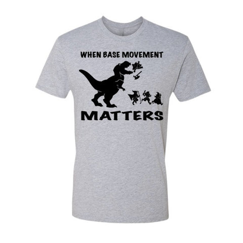 Base Movement  (+2 Armor) - Original Gamer  - Dungeons and Dragons T-shirt