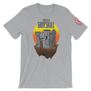 Castle Grey Skull Shirt - Original Gamer  - Dungeons and Dragons T-shirt
