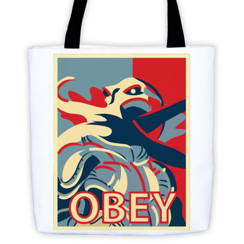 Mind Flayer Obey - Tote bag - Original Gamer  - Dungeons and Dragons T-shirt