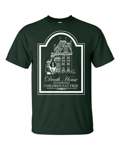 Curse of Strahd Death House Tee (+1 Armor Dark Color) - Original Gamer  - Dungeons and Dragons T-shirt