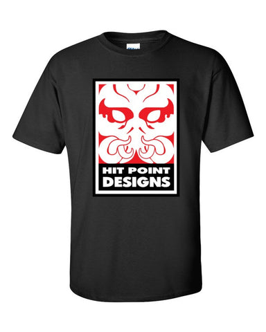 Hit Point Design - Company Logo - Original Gamer  - Dungeons and Dragons T-shirt