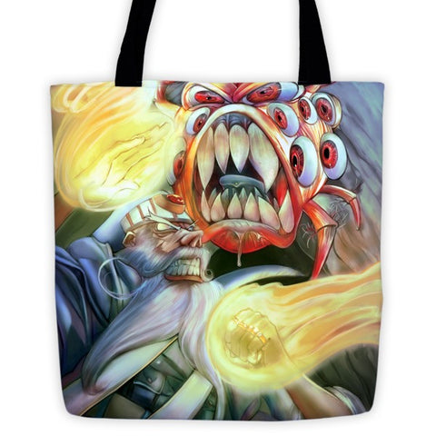 Behold Fight Tote bag - Original Gamer  - Dungeons and Dragons T-shirt