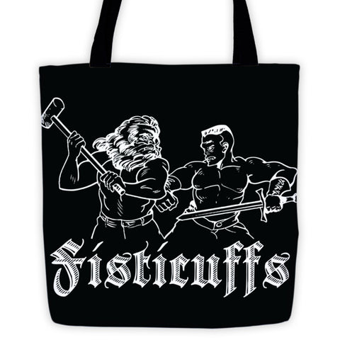 Fisticuffs - Tote bag - Original Gamer  - Dungeons and Dragons T-shirt