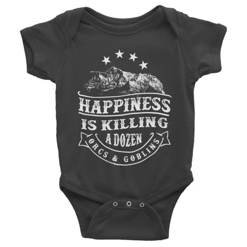 Happiness - Infant short sleeve one-piece - Original Gamer  - Dungeons and Dragons T-shirt