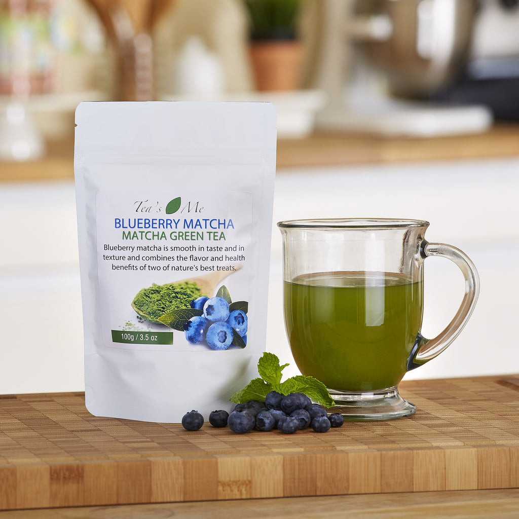 Blueberry Flavored Matcha Tea Powder