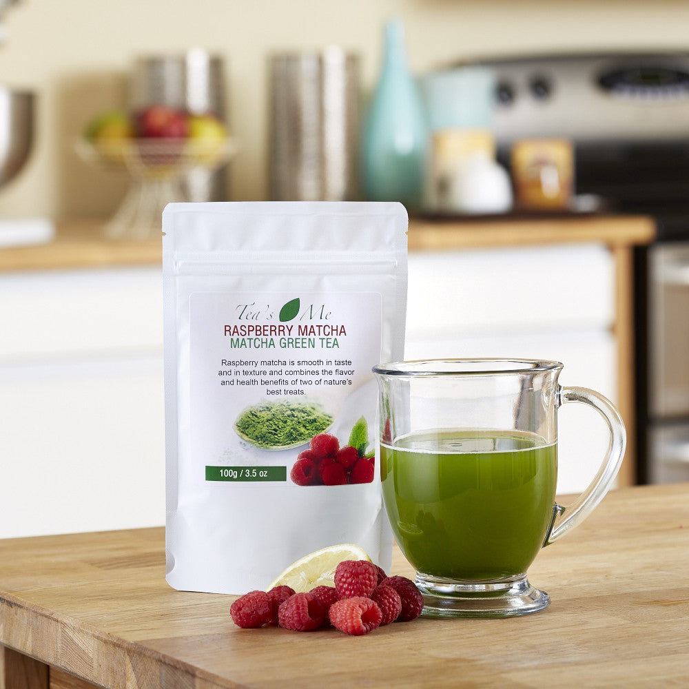Raspberry Flavored Matcha Tea Drink