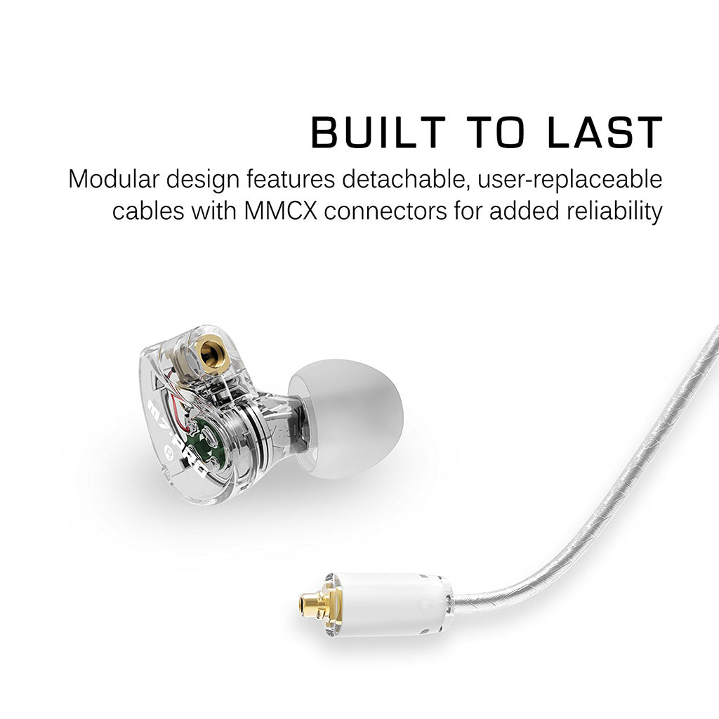MEE Audio M7 PRO Universal-Fit Hybrid Dual-Driver Musician's In-Ear Monitors - Jaben - The Little Headphone Store