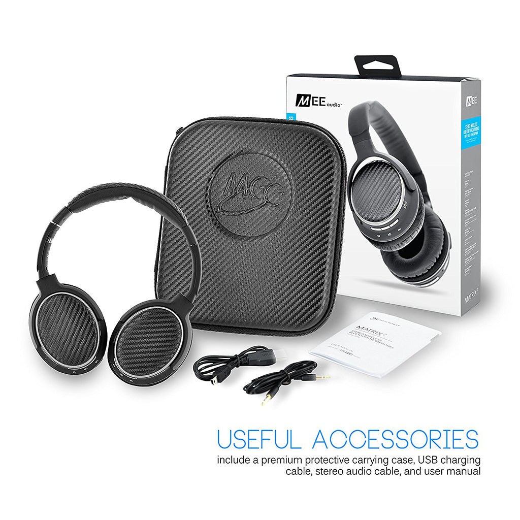 MEE Audio Air-Fi Matrix2 AF62 Bluetooth Headphones - Jaben - The Little Headphone Store